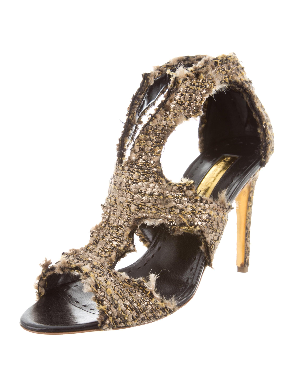 Rupert Sanderson Woven Cage Sandals fashionable sale online dIihbcjq
