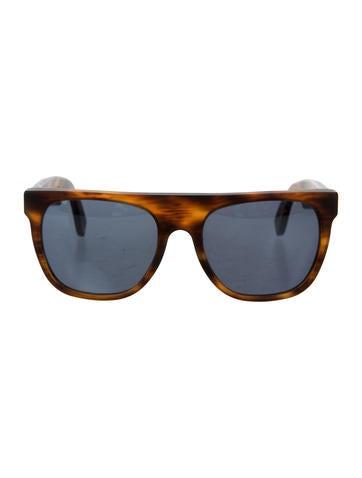 RetroSuperFuture Tortoiseshell Flat Top Sunglasses