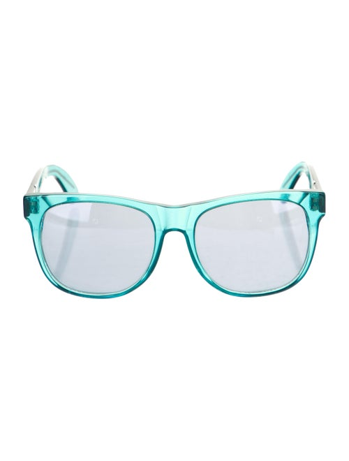 RetroSuperFuture Wayfarer Mirrored Sunglasses Blue