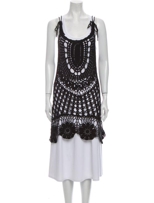 Rat & Boa Scoop Neck Mini Dress Black