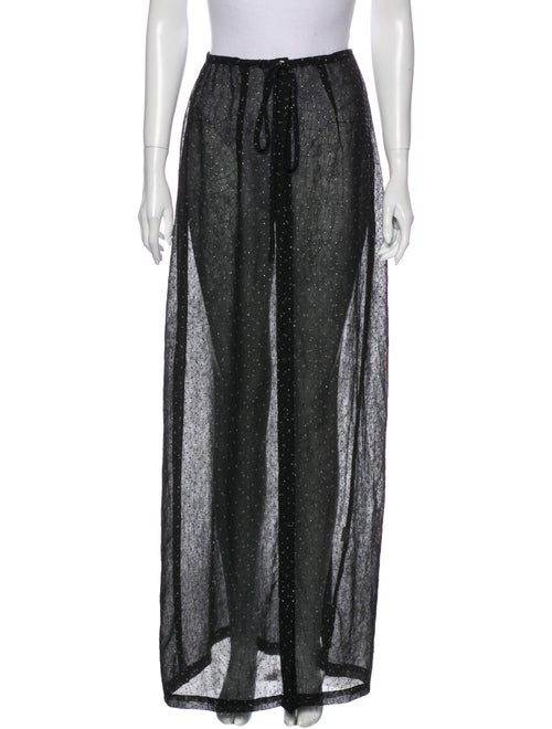 Rat & Boa Crystal Embellishments Long Skirt Black