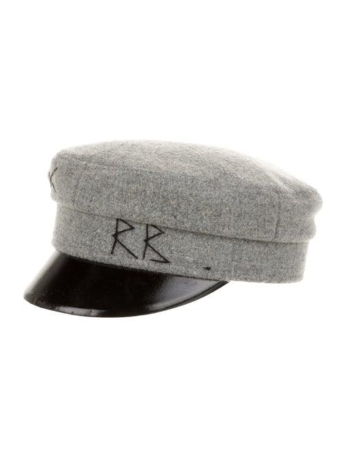 Ruslan Baginskiy Wool Newsboy Hat Grey