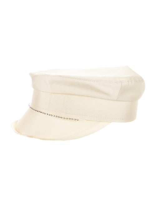 Ruslan Baginskiy Satin Newsboy Hat
