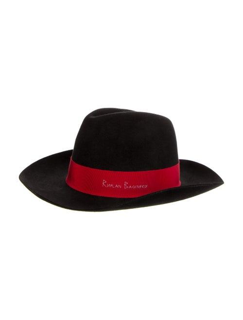Ruslan Baginskiy Felt Fedora Hat Black