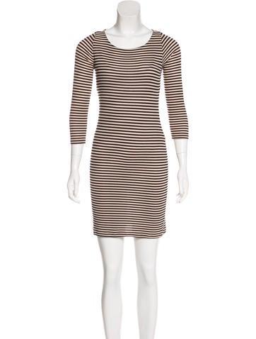 Rachel Pally Striped Rib Knit Dress None