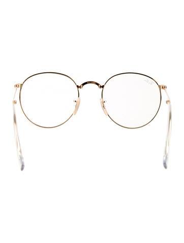 Gold-Tone Circular Eyeglasses