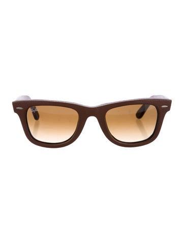 Ray-Ban Leather Wayfarer Sunglasses