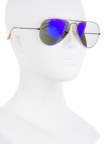 Large Metal Aviator Sunglasses