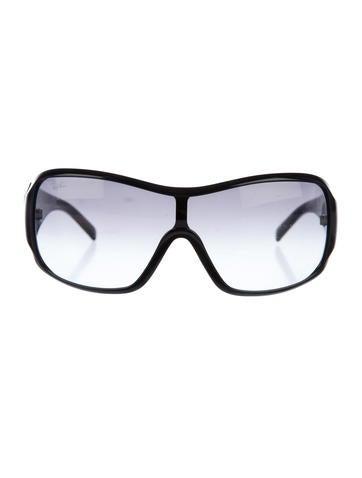Ray-Ban Tinted Shield Sunglasses