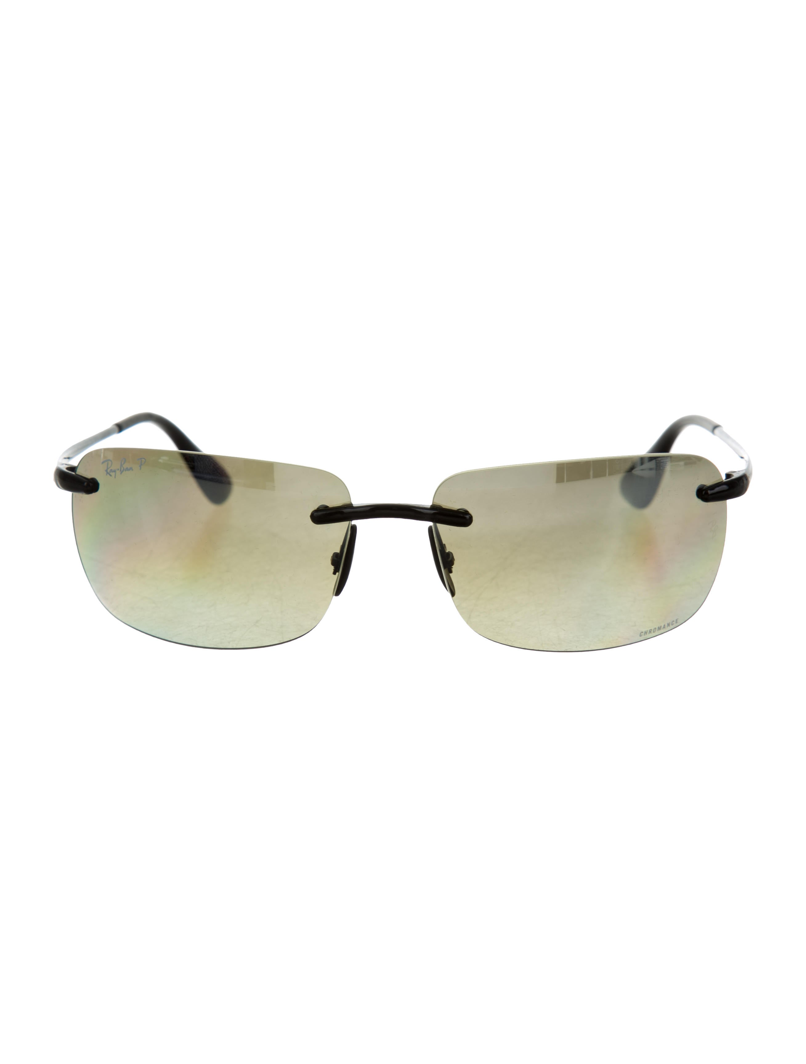 bc60bb6291 Ray Ban Rimless With Clip On Sunglasses