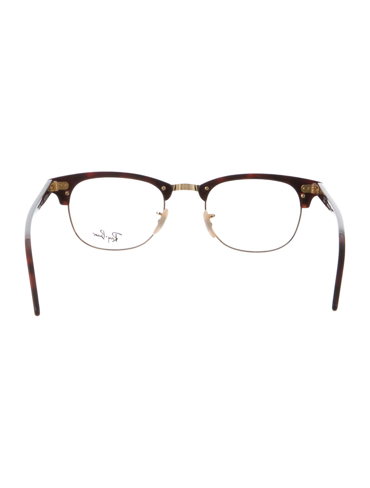 Gold Eyeglass Frames Ray Ban : Ray-Ban Tortoiseshell Gold-Tone Eyeglasses - Accessories ...
