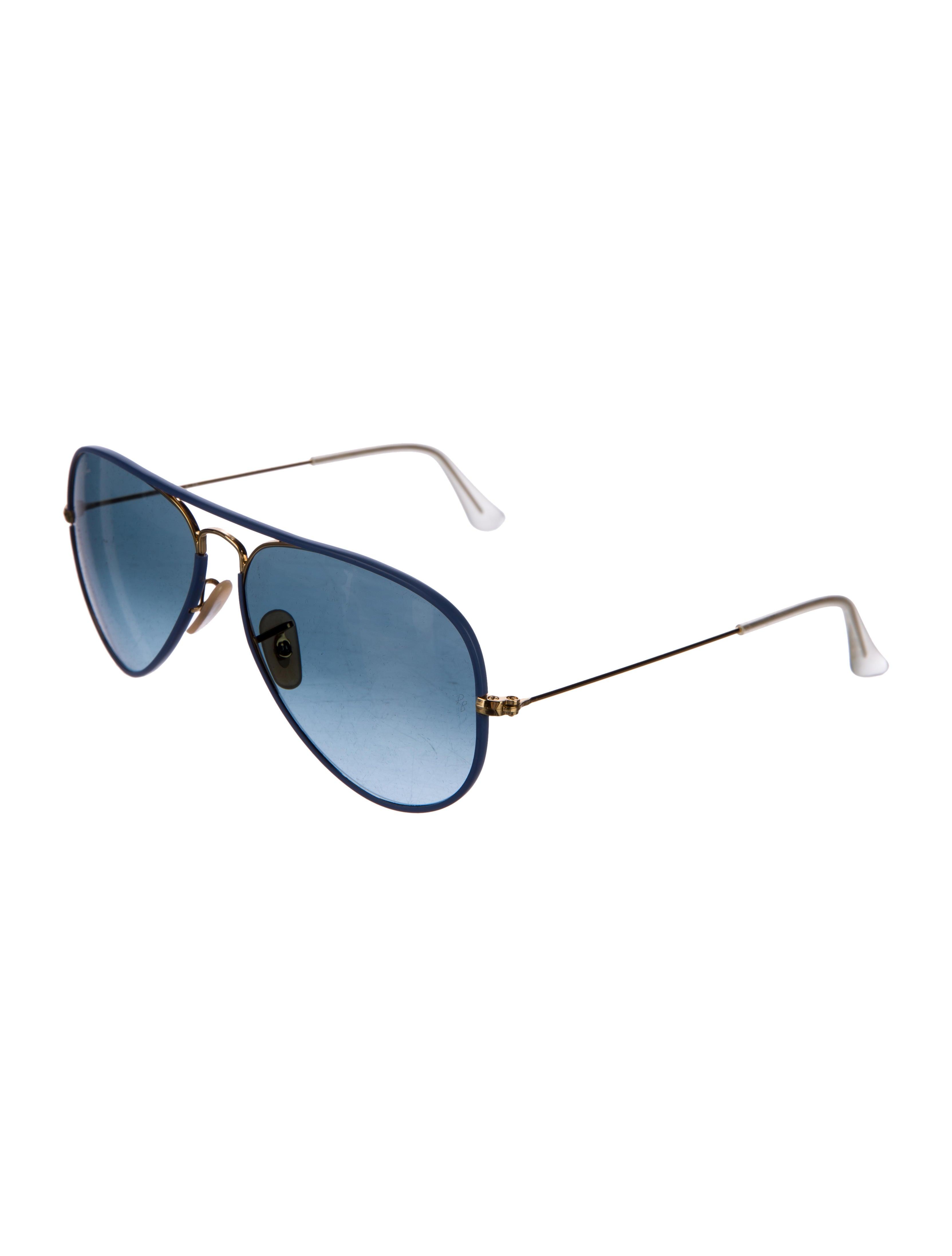 Ray-Ban Aviator Full Color Sunglasses - Accessories - WRX25703   The  RealReal 95a9eb2abc