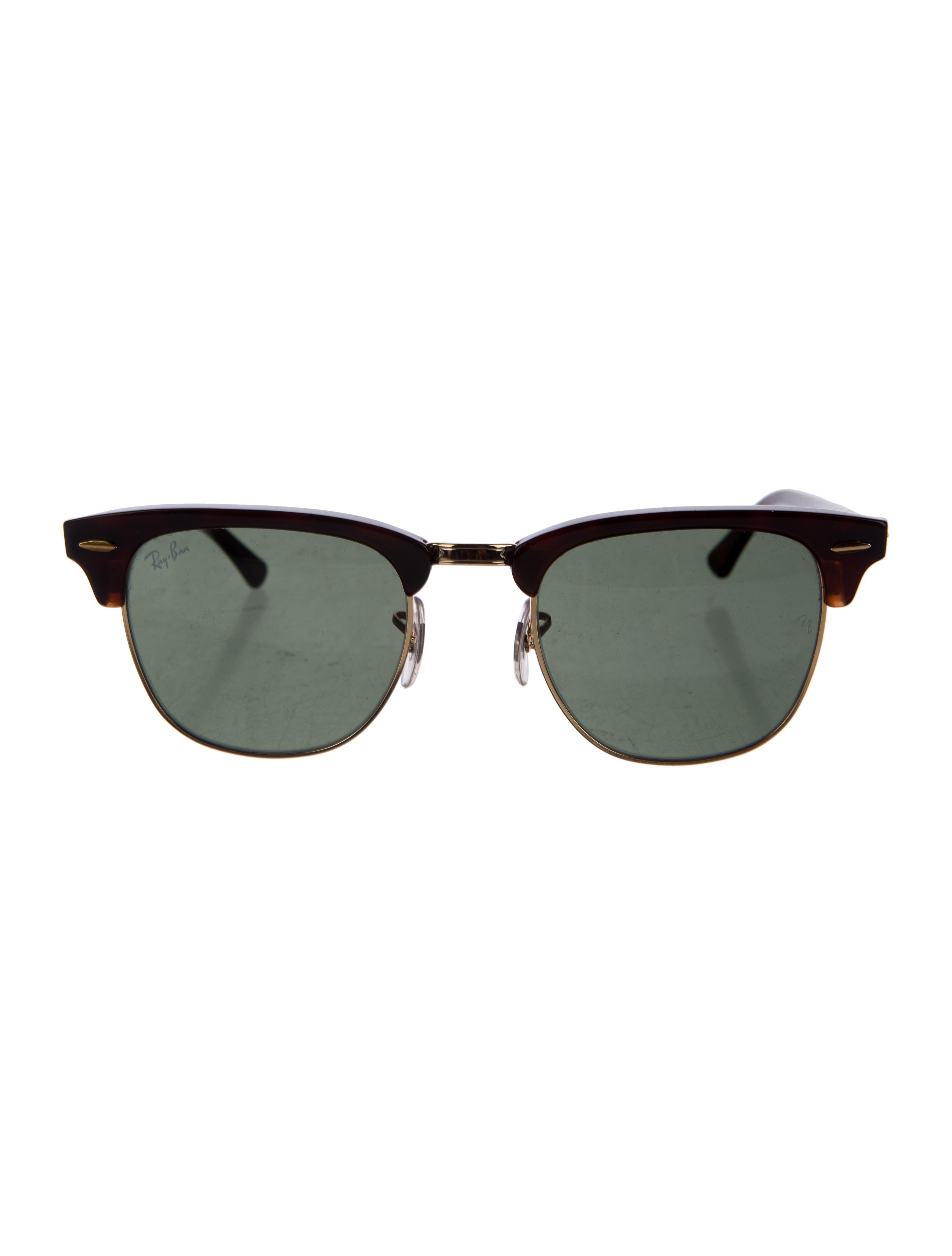 ed137c91361 Ray-Ban Tortoiseshell-Accented Clubmaster Sunglasses - Accessories -  WRX26297