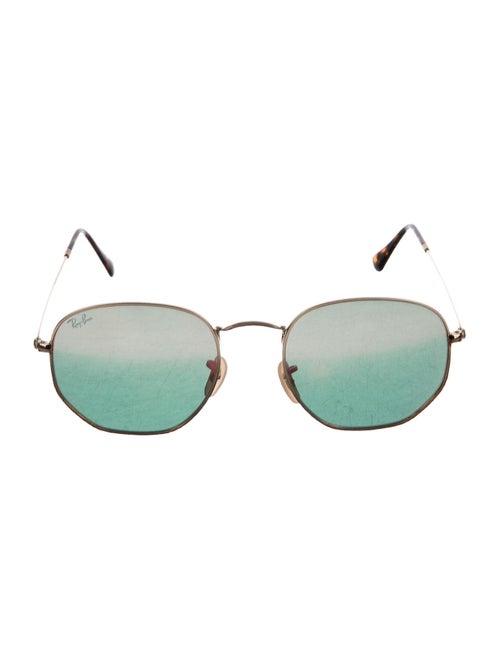 Ray-Ban Round Polarized Sunglasses Gold