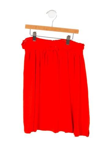 Rykiel Enfant Girls' Ruched Rib Knit Skirt None
