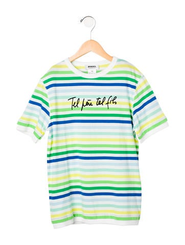 Rykiel Enfant Boys' Embroidered Striped Top None