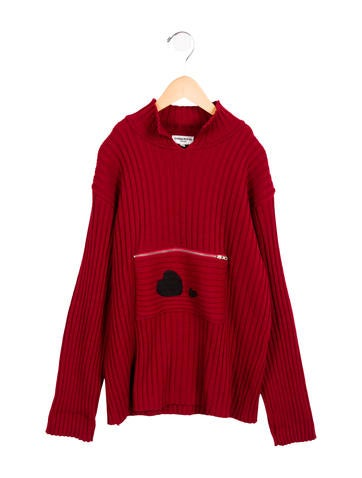 Rykiel Enfant Girls' Heart-Embroidered Knit Sweater None