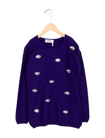 Rykiel Enfant Girls' Sequined Wool Sweater None