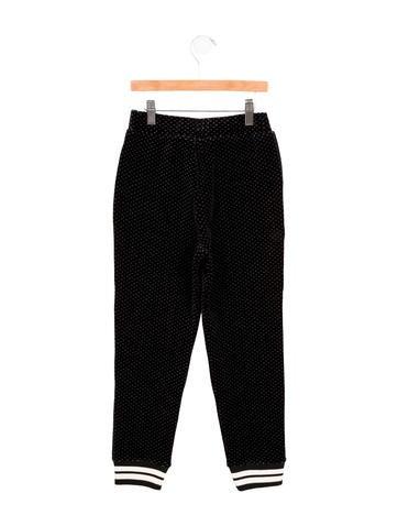 Girls' Velvet Jogger Pants