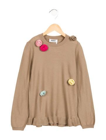 Rykiel Enfant Girls' Embellished Wool Sweater None