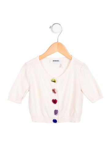 Rykiel Enfant Girls' Jewel-Embellished Knit Cardigan None