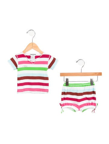 Rykiel Enfant Girls' Striped Knit Shorts Set None
