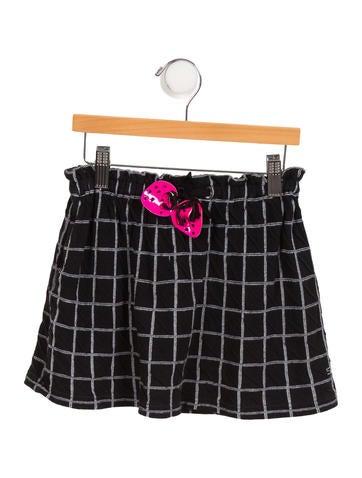 Rykiel Enfant Girls' Grid Logo Skirt None