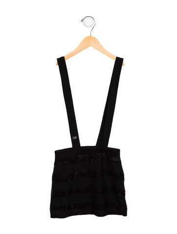 Rykiel Enfant Girls' Sequined Suspender Skirt None