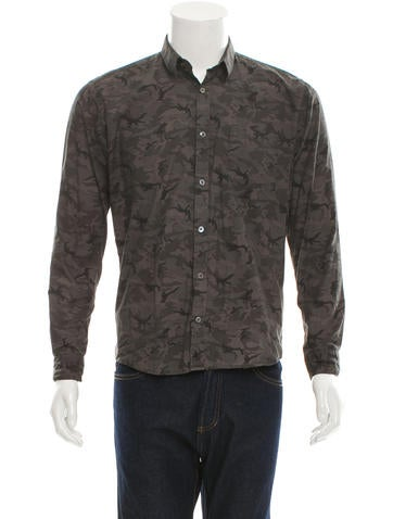 Surface To Air Camouflage Print Button Up Shirt Clothing