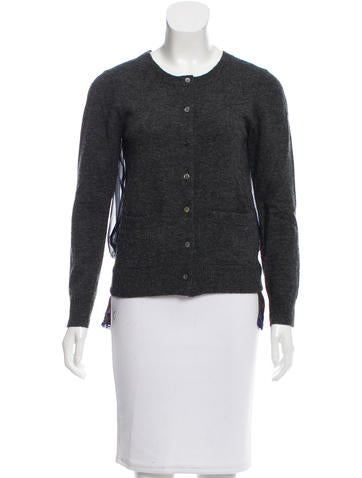 Sacai Wool Lace-Trimmed Top None
