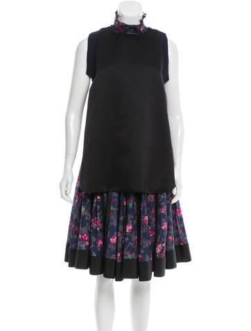 Sacai Silk Floral Print Dress w/ Tags None