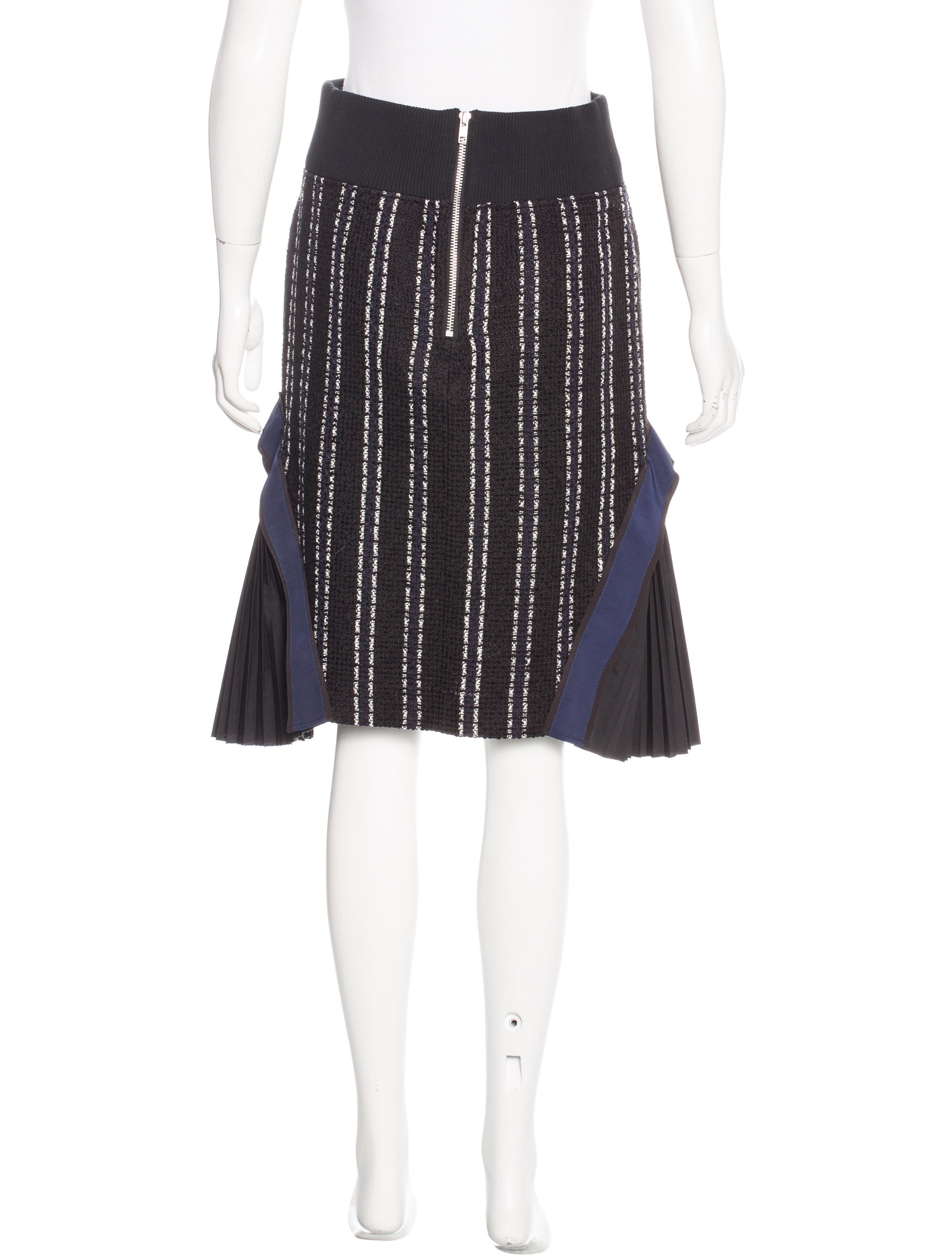 sacai pleated tweed skirt clothing ws121336 the realreal