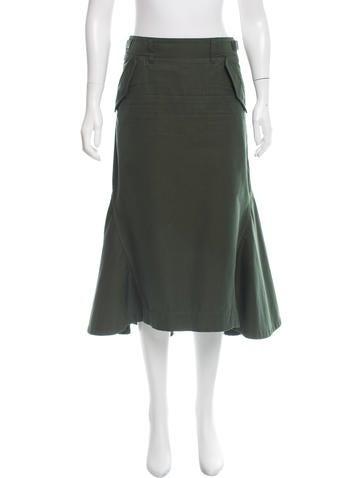 sacai midi peplum skirt clothing ws121527 the realreal