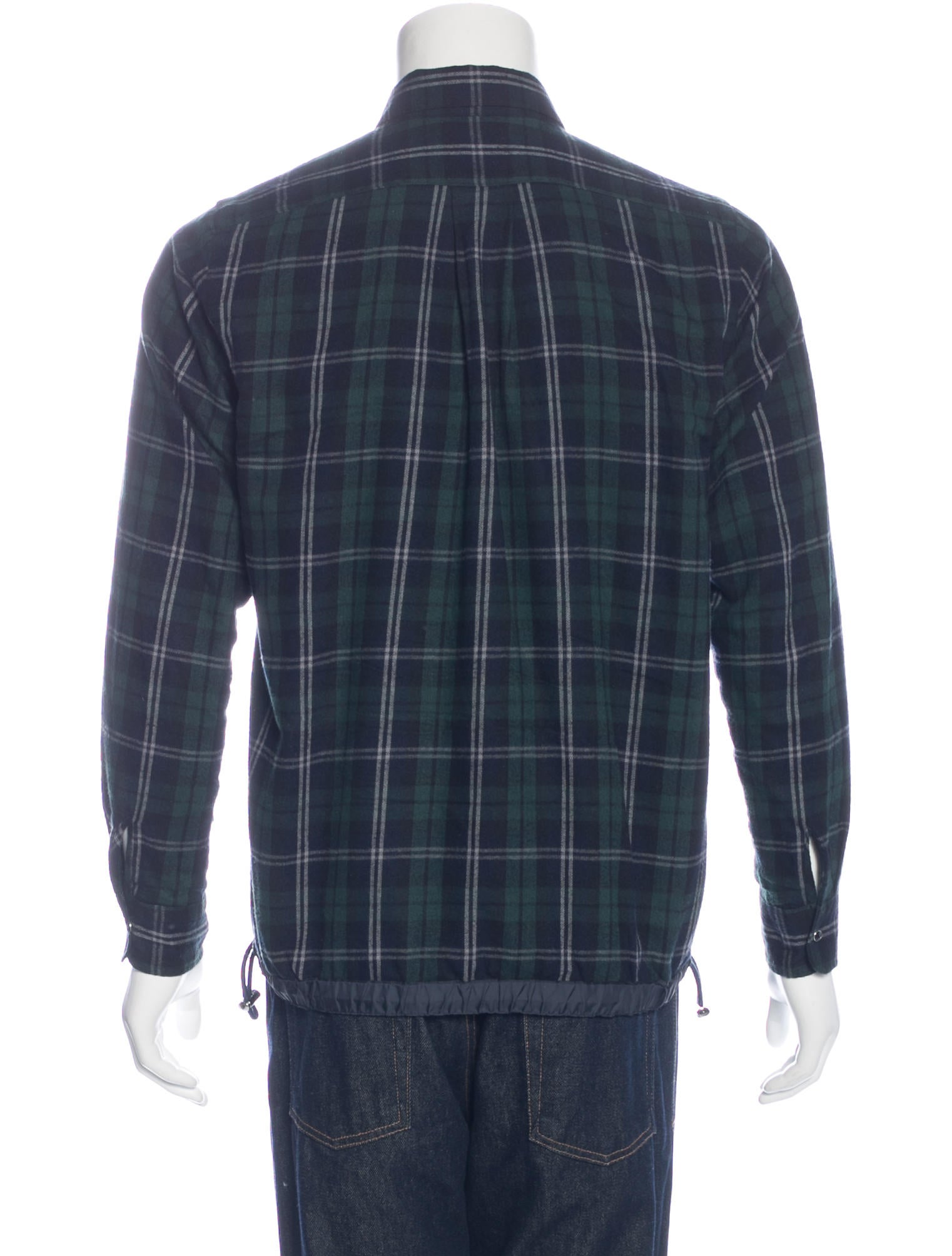 sacai plaid flannel shirt clothing ws121622 the realreal