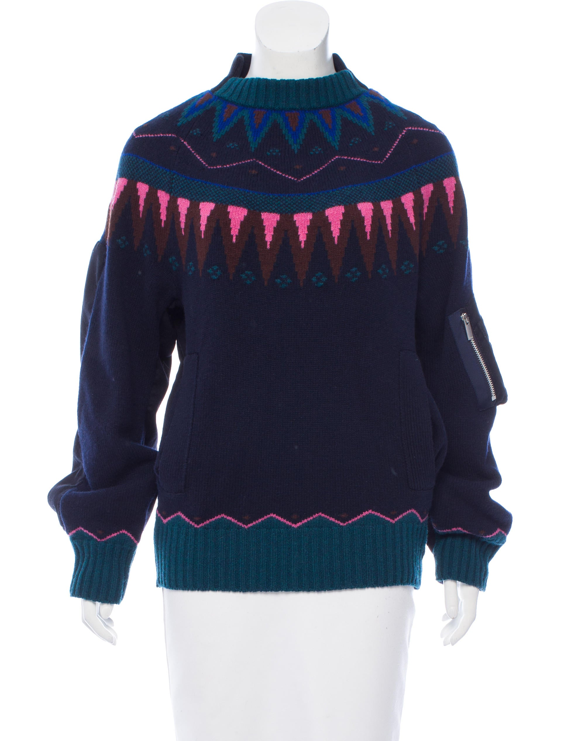 Sacai Wool Fair Isle Sweater - Clothing - WS121665 | The RealReal