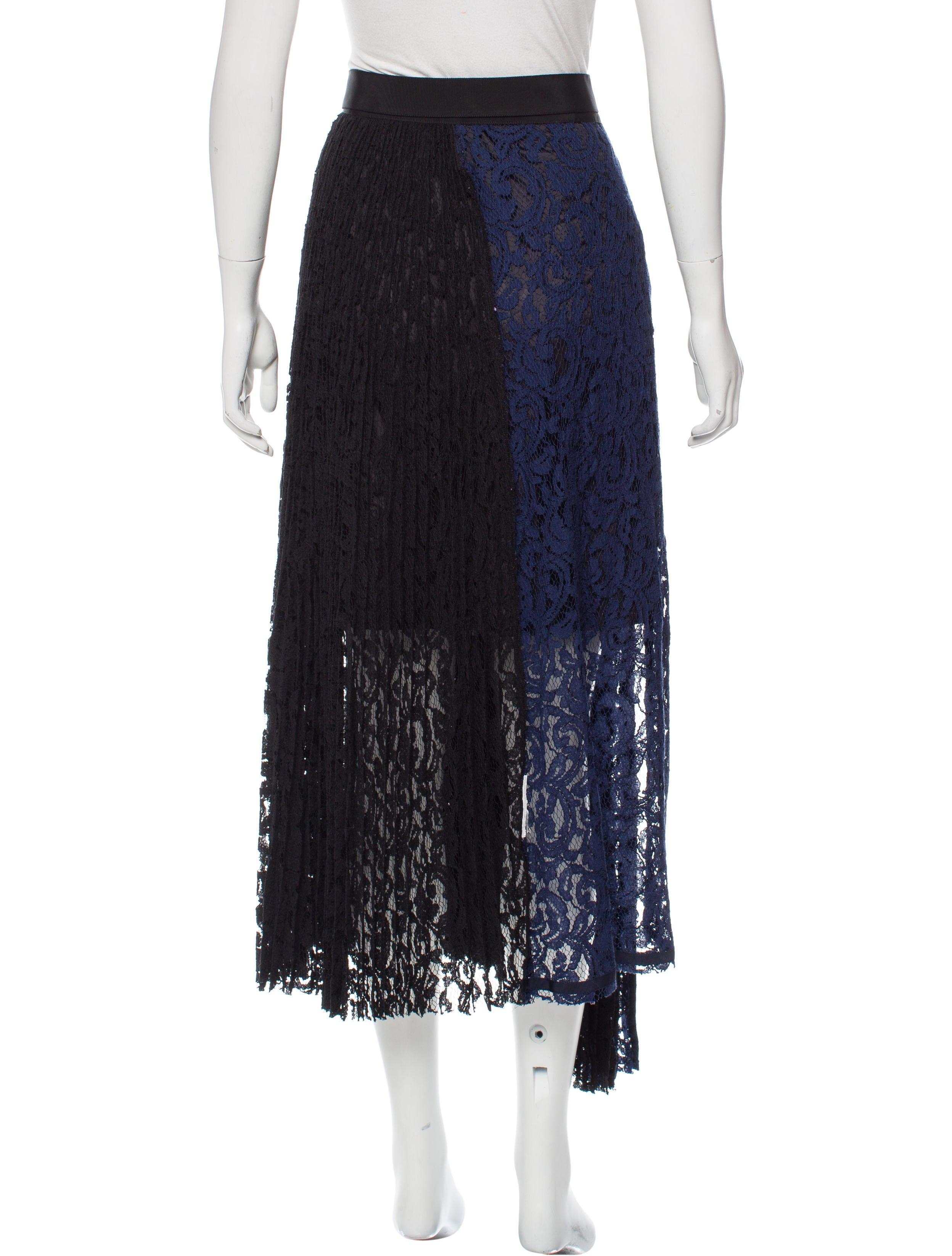 sacai lace midi skirt clothing ws121691 the realreal
