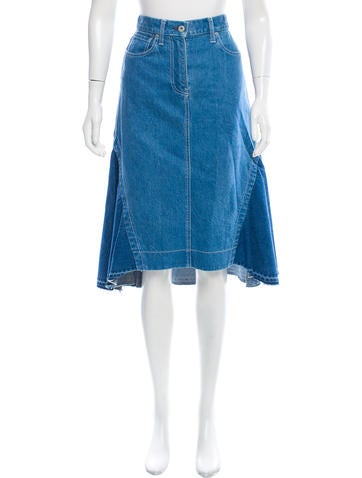 sacai high low denim skirt clothing ws121705 the