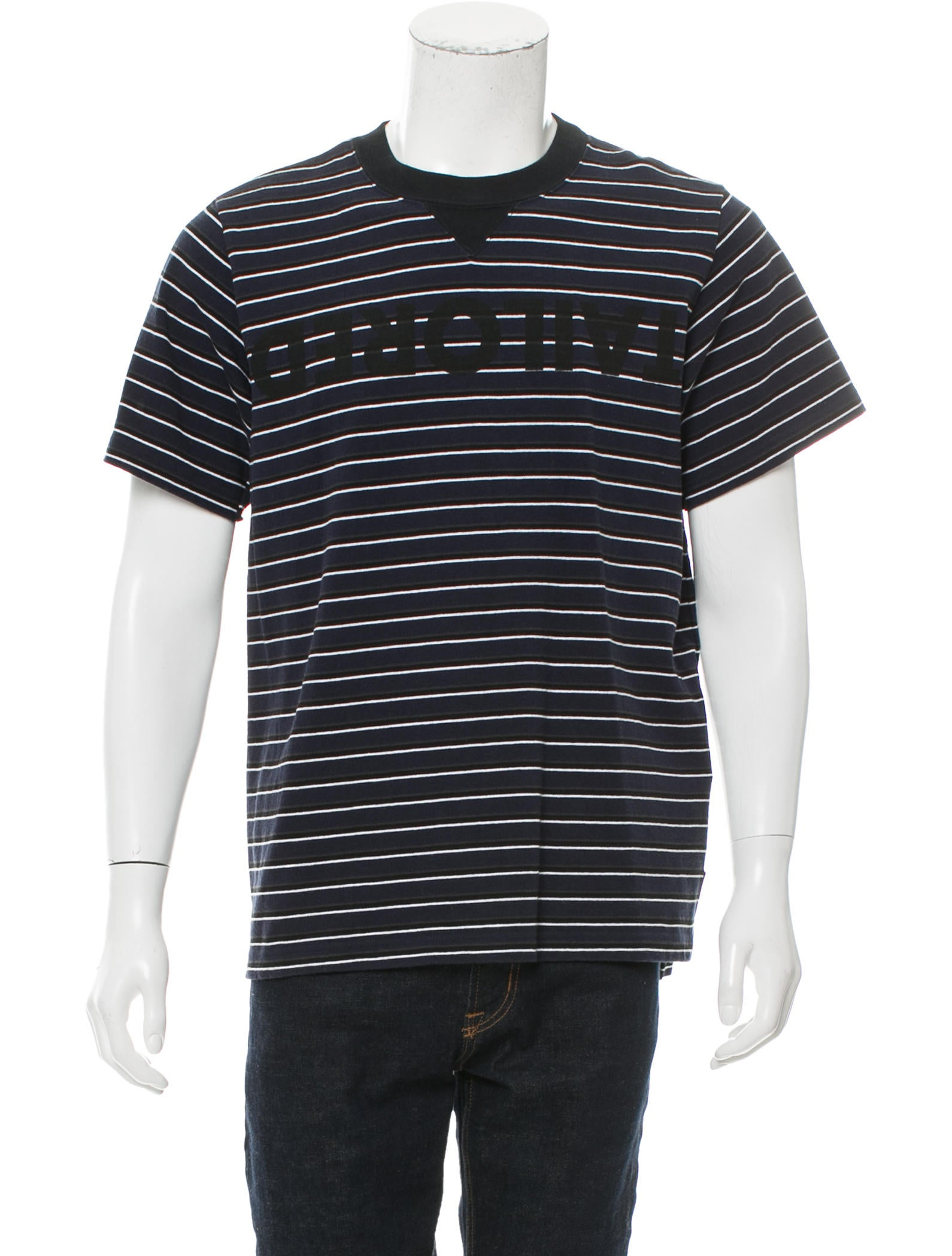 Sacai tailored striped t shirt clothing ws121763 the for Tailored t shirts online