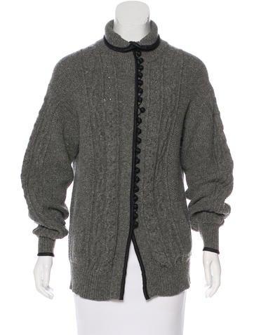 Sacai Knit Button-Up Cardigan None