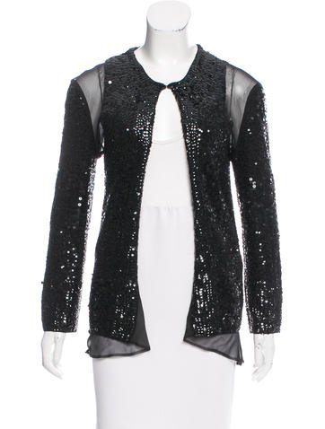 Sacai Embellished Paneled Cardigan None