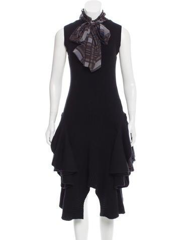 Sacai Printed Wool Dress w/ Tags None
