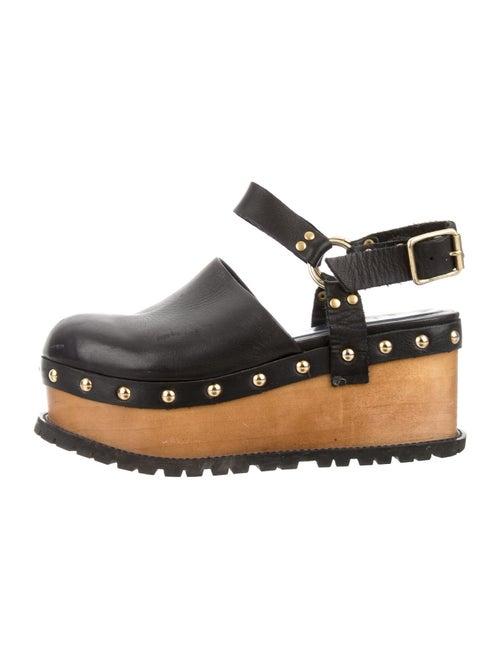 Sacai Leather Slingback Pumps Black