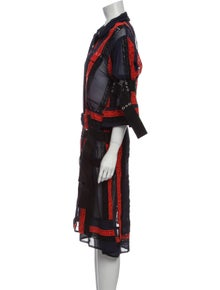 Sacai Printed Midi Length Dress