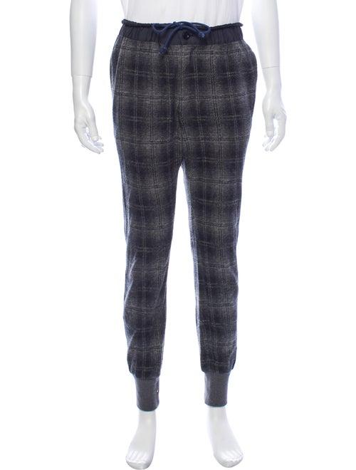 Sacai Plaid Print Pants Grey