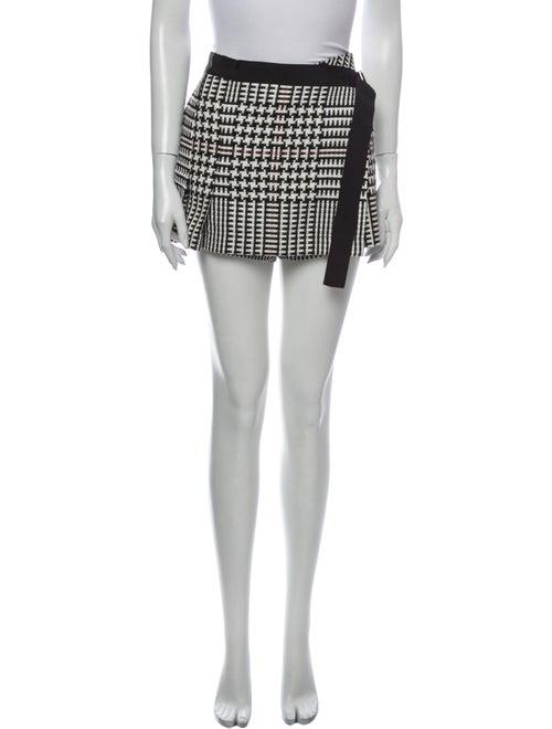 Sacai Printed Mini Shorts Black