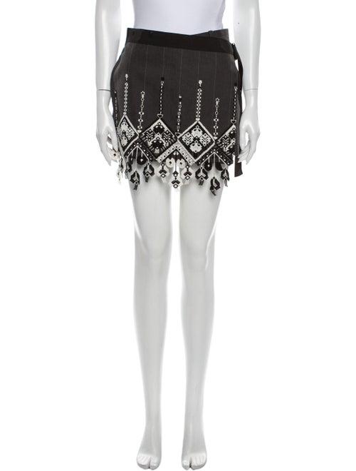 Sacai Printed Mini Shorts Grey
