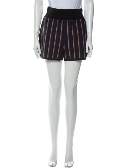 Sacai Striped Mini Shorts Blue