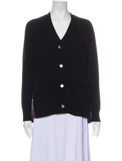 Sacai Wool V-Neck Sweater Wool