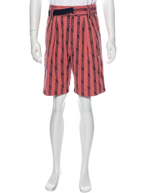 Sacai Graphic Print Shorts Pink