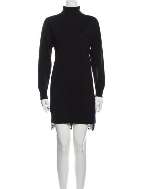 Sacai Turtleneck Mini Dress Black